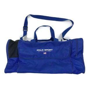 VINTAGE x POLO SPORT 90s Blue Nylon Duffle Bag 3f580622d9bda